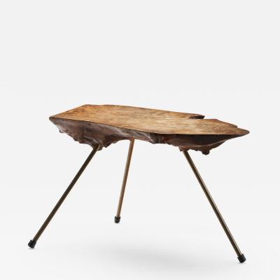 Carl Aub ck Carl Aubo ck Tree Trunk Coffee Table in Walnut Austria ca 1955