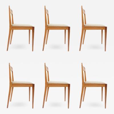 Carl Aub ck Elegant Set of 6 Wooden Chairs Circa 1955