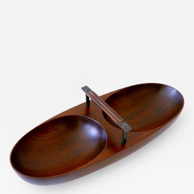 Carl Aub ck Exceptional Mid Century Modern Teak Nut Bowl by Carl Aub ck 1950s Austria