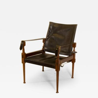 Carl Aub ck Rosewood Safari Chair in the Style of Carl Aubo ck