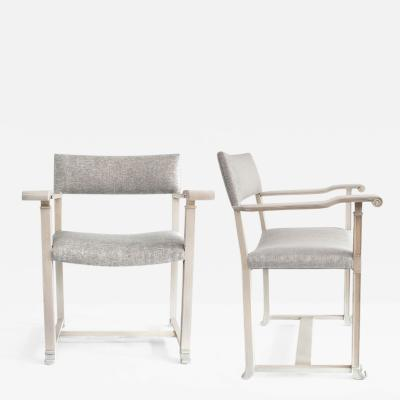 Carl Bergsten PAIR OF SCANDINAVIAN MODERN WHITE OAK CHAIRS Carl Bergsten