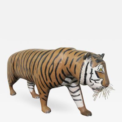 Carl Christiansen Wood Tiger Folk Sculpture