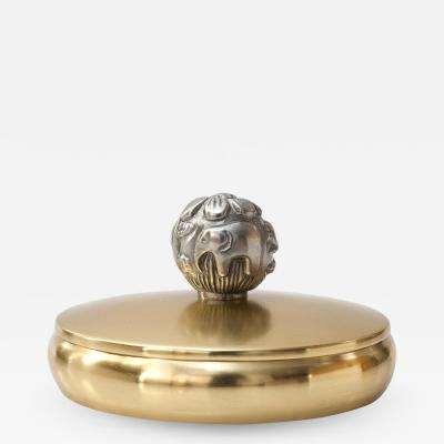 Carl Einar Bergstrom Carl Einar Bergstrom for Ystad Swedish Art Deco brass and pewter box