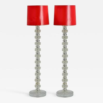 Carl Fagerlund A Pair of Floor Lamps by Carl Fagerlund for Orrefors