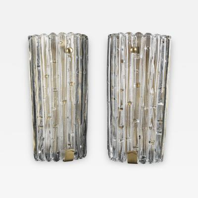 Carl Fagerlund A pair of large wall lights by Orrefors