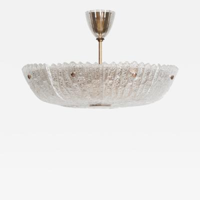 Carl Fagerlund Ceiling Lamp Produced by Orrefors