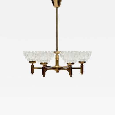 Carl Fagerlund Chandelier with six lamps by Carl Fagerlund