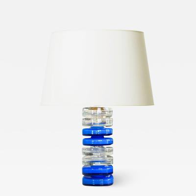 Carl Fagerlund Exceptional Mod table lamp by Carl Fagerlund for Orrefors