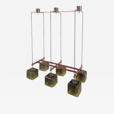 Carl Fagerlund Green Glass Ceiling Lamp by Carl Fagerlund for Orrefors