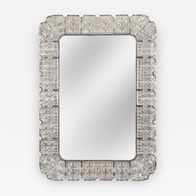 Carl Fagerlund Large Swedish Glass Framed Mirror