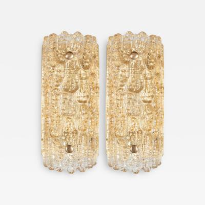 Carl Fagerlund Luxe Pair of Mid Century Modern Sconces By Carl Fagerlund for Orrefors