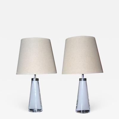 Carl Fagerlund Pair of Lamps Carl Fagerlund for Orrefors