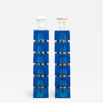 Carl Fagerlund Pair of Table Lamps by Carl Fagerlund for Orrefors