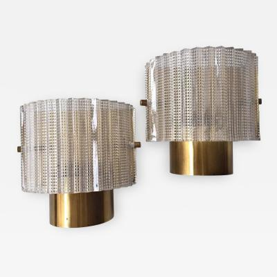 Carl Fagerlund Pair of Wall Lights by Orrefors