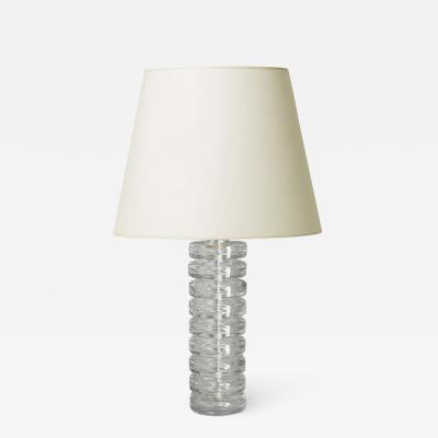 Carl Fagerlund Pair of table lamps with stacked glass disks by Carl Fagerlund