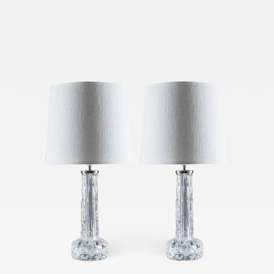 Carl Fagerlund Swedish Midcentury Table Lamps by Carl Fagerlund for Orrefors