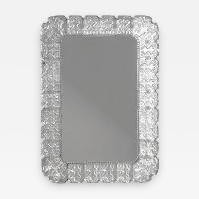 Carl Fagerlund Swedish Modern Glass Mirror by Carl Fagerlund for Orrefors