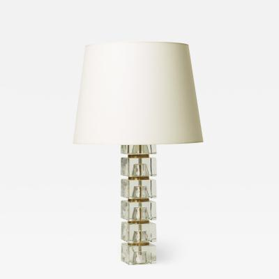 Carl Fagerlund Table lamp with glass blocks assemblage by Carl Fagerlund