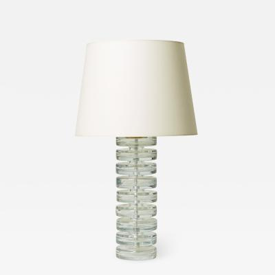 Carl Fagerlund Table lamp with stacked glass disks by Carl Fagerlund