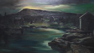 Carl Frederick Gaertner Clyde Cove Moonlight
