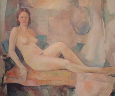 Carl Frederick Gaertner Reclining Nude