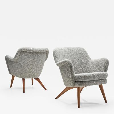 Carl Gustav Hiort af Orn s Pair of Pedro Armchairs by Carl Gustaf Hiort af Orn s for Puunveisto Oy 50s