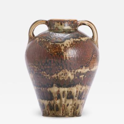 Carl Halier Extraordinary Large Amphora Vase with Sung Glaze by Carl Halier