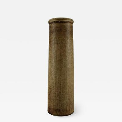 Carl Harry St lhane Large cylindrical vase in glazed ceramics