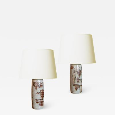 Carl Harry St lhane Pair of Table Lamps by Carl Harry Stalhane for Rorstrand