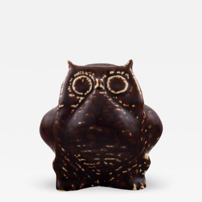 Carl Harry St lhane Stoneware figure Owl