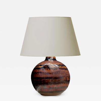 Carl Harry St lhane Table lamp by C H Stalhane