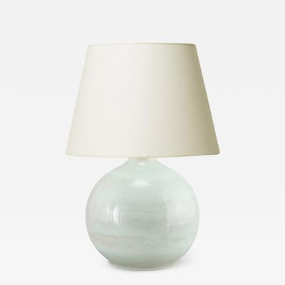 Carl Harry St lhane Table lamp in celadon by C H St lhane
