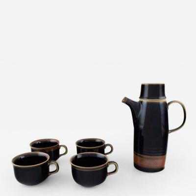 Carl Harry St lhane Viking coffee pot and four coffee cups