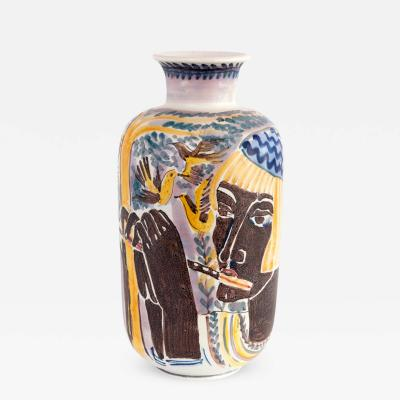 Carl Harry Stalhane A Large Hand Decorated Vase by Carl Harry Stalhane with 2 Women from Rorstrand