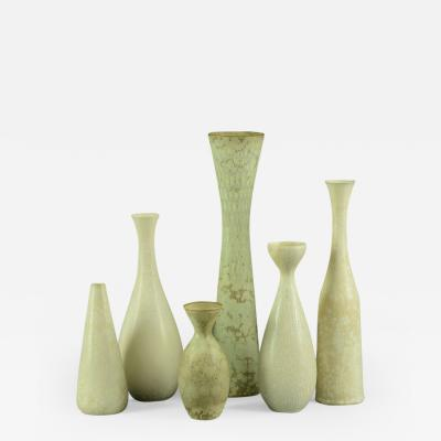 Carl Harry Stalhane Group of Six Stoneware Vases by Carl Harry Stalhane for Rorstrand