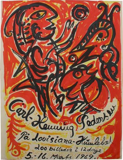 Carl Henning Pederson Carl Henning Pedersen Silkscreen Poster