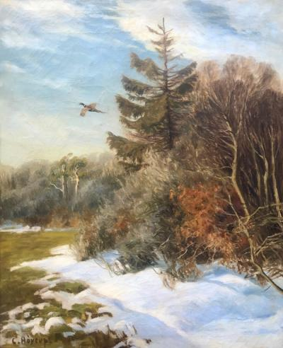 Carl Hoyrup Pheasant in Flight