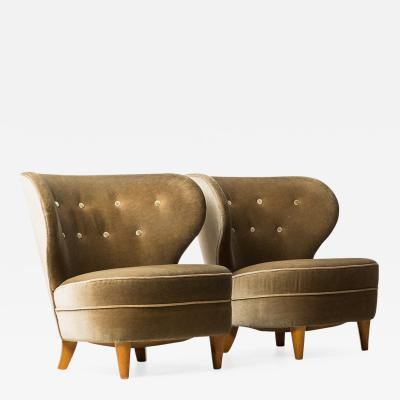 Carl Johan Boman Easy Chairs