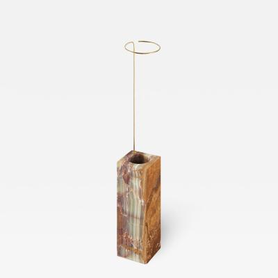 Carl Kleiner Tall Onyx Posture Marble Vase Carl Kleiner