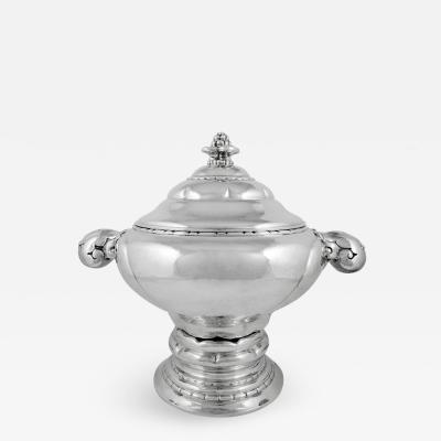 Carl M Cohr Large Danish Silver Tureen by Carl M Cohr