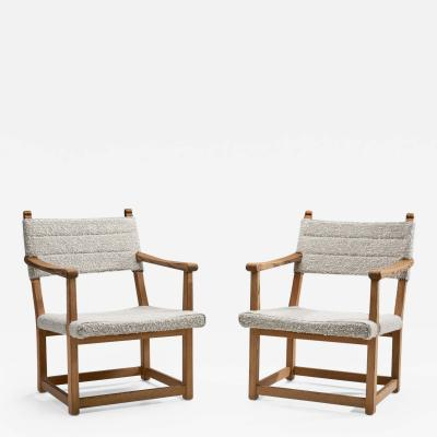 Carl Malmsten A Pair of Carl Malmsten H ngsits Armchairs Sweden 1947