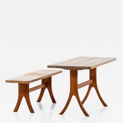 Carl Malmsten Bench and Dining Table Produced in Sweden
