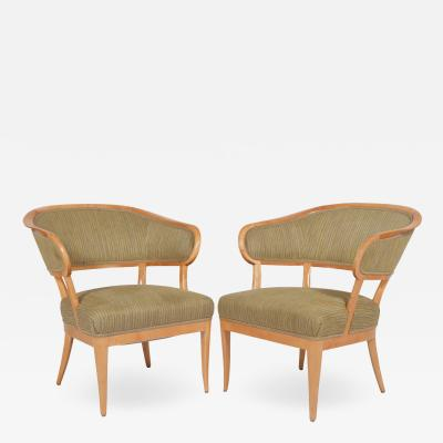 Carl Malmsten Carl Malmsten Jonas Love lounge chairs pair