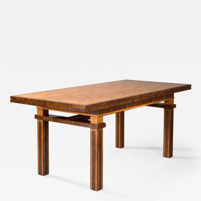 Carl Malmsten Carl Malmsten Swedish Grace Period Rosewood and Thuya Extendable Dining Table
