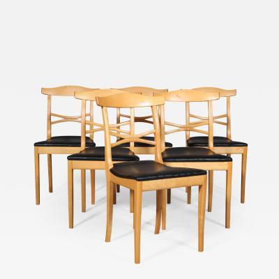 Carl Malmsten Carl Malmsten six chairs model Birgitta 6