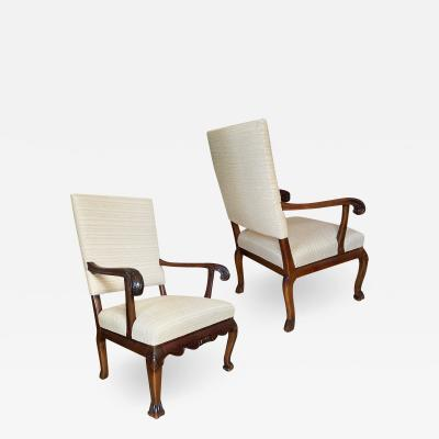Carl Malmsten Fine Pair of Carved Chairs by Carl Malmsten and Hjalmar Jackson