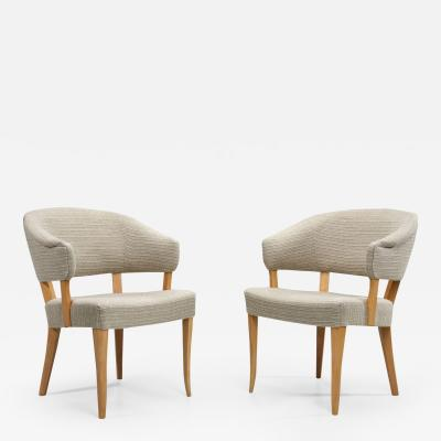 Carl Malmsten Lata Greven Pair of Armchairs by Carl Malmsten Sweden 1953