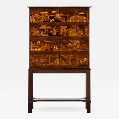 Carl Malmsten Master Cabinet Model The Four Ages Produced by David Blomberg in Sweden