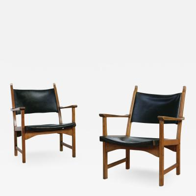 Carl Malmsten Pair of Caryngo Chairs by Carl Malmsten and Yngve Ekstr m