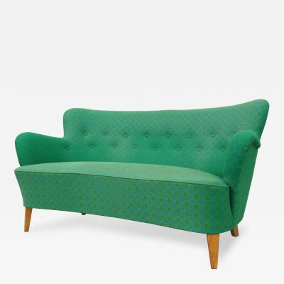 Carl Malmsten Small Curvy Sofa by Carl Malmsten